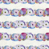 Seamless floral pattern with asters and daisy flowers Stock Image