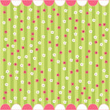 Seamless floral pattern, baby card Stock Photography