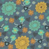Seamless floral pattern . background Royalty Free Stock Photo