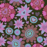 Seamless floral pattern . background Royalty Free Stock Photography