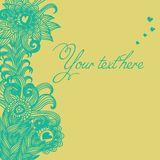 Seamless floral pattern . background Stock Images