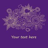 Seamless floral pattern . background Royalty Free Stock Image