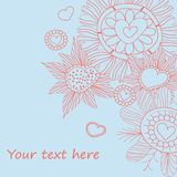 Seamless floral pattern . background Royalty Free Stock Images
