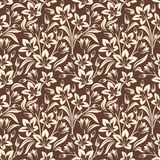 Vector seamless floral pattern. Stock Image