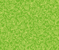 Seamless Floral Pattern Background With Birds and Flowers Stock Photography
