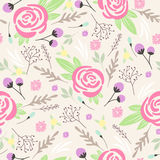 Seamless floral pattern. Background with flowers Royalty Free Stock Photo