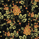 Seamless floral pattern background .flowers on black background. Royalty Free Stock Photo