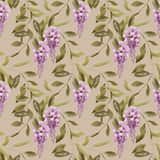 Seamless floral pattern background flowers ornament wallpaper te Stock Image