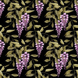 Seamless floral pattern background flowers ornament wallpaper te Royalty Free Stock Images