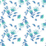 Seamless floral pattern background, flowers ornament wallpaper  Stock Images