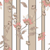Seamless floral pattern background, flowers ornament wallpaper  Royalty Free Stock Photography