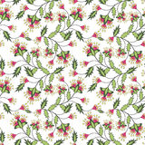 Seamless floral pattern background, flowers ornament wallpaper textile Illustration. Royalty Free Stock Images