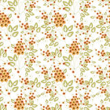 Seamless floral pattern background, flowers on white background. Royalty Free Stock Image