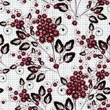 Seamless floral pattern background, flowers on white background. Royalty Free Stock Photography