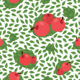 Seamless floral pattern background with fruits. Great for textile or web page background. Vector illustration Stock Image