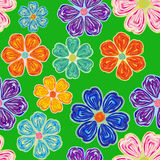 Seamless floral pattern background. Summer floral garden seamless pattern Stock Image