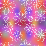 Seamless floral pattern background. Summer floral garden seamless pattern Stock Photos