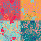 Seamless floral pattern background vector. Set of colorful variations. Seamless floral pattern background vector. Set of colorful variations vector Stock Photo