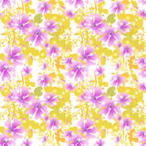 Seamless floral pattern background Stock Photography