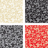 Seamless floral pattern backgrounds royalty free illustration