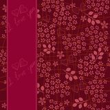 Seamless floral pattern with banner in vector Stock Images