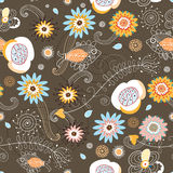 Seamless floral pattern is beautiful Stock Images