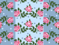 Seamless floral pattern with beautiful roses Royalty Free Stock Photo