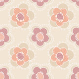 Seamless floral pattern on beige Stock Image