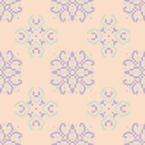 Seamless floral pattern. Beige violet and blue background. For wallpapers, textile and fabrics Stock Image