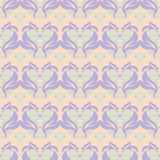 Seamless floral pattern. Beige violet and blue background. For wallpapers, textile and fabrics Royalty Free Stock Photos