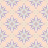 Seamless floral pattern. Beige violet and blue background. For wallpapers, textile and fabrics Stock Photography