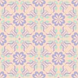 Seamless floral pattern. Beige violet and blue background. For wallpapers, textile and fabrics Stock Images