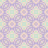 Seamless floral pattern. Beige violet and blue background. For wallpapers, textile and fabrics Stock Photos