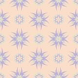 Seamless floral pattern. Beige violet and blue background. For wallpapers, textile and fabrics Royalty Free Stock Photo