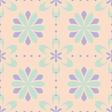 Seamless floral pattern. Beige violet and blue background. For wallpapers, textile and fabrics Royalty Free Stock Image