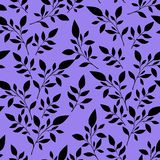 Seamless floral pattern, black leaves on the background  for textile printing or background, wallpaper, ad, banner stock illustration