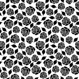 Seamless floral pattern black and white Royalty Free Stock Photography
