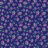 Seamless floral pattern on a blue background Stock Photography