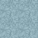 Seamless floral pattern on blue background Royalty Free Stock Photos