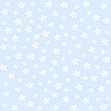 Seamless floral pattern on a blue background. Vector. Illustration Stock Illustration