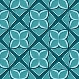 Seamless floral pattern. Blue green 3d designs. Vector illustration Vector Illustration