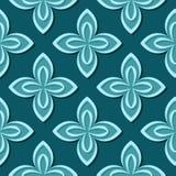 Seamless floral pattern. Blue green 3d designs. Vector illustration vector illustration