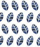 Seamless floral pattern with blue leaves Royalty Free Stock Image