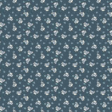 Seamless floral pattern. Blue vintage seamless floral pattern Royalty Free Stock Photography
