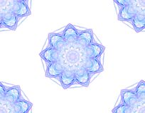 Seamless floral pattern in blue on white Royalty Free Stock Photography