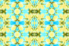 Seamless Floral pattern blue yellow stock illustration