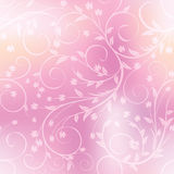 Seamless floral pattern on blurred background. Eps-10 royalty free illustration