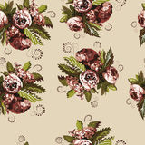 Seamless floral pattern 1 Royalty Free Stock Photography