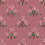 Seamless floral pattern bouquet texture on pink Stock Image