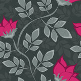 Seamless floral pattern with bright flowers Stock Image